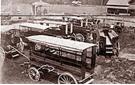 Autobus tirés par des chevaux 1914